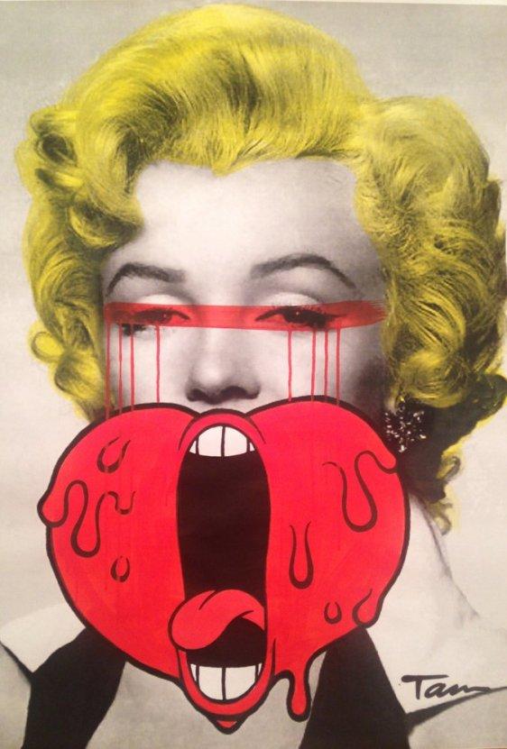 Screaming Heart Marilyn